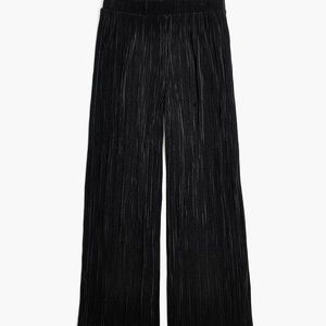 Madewell Micro-Pleat Wide Leg Cropped Pants